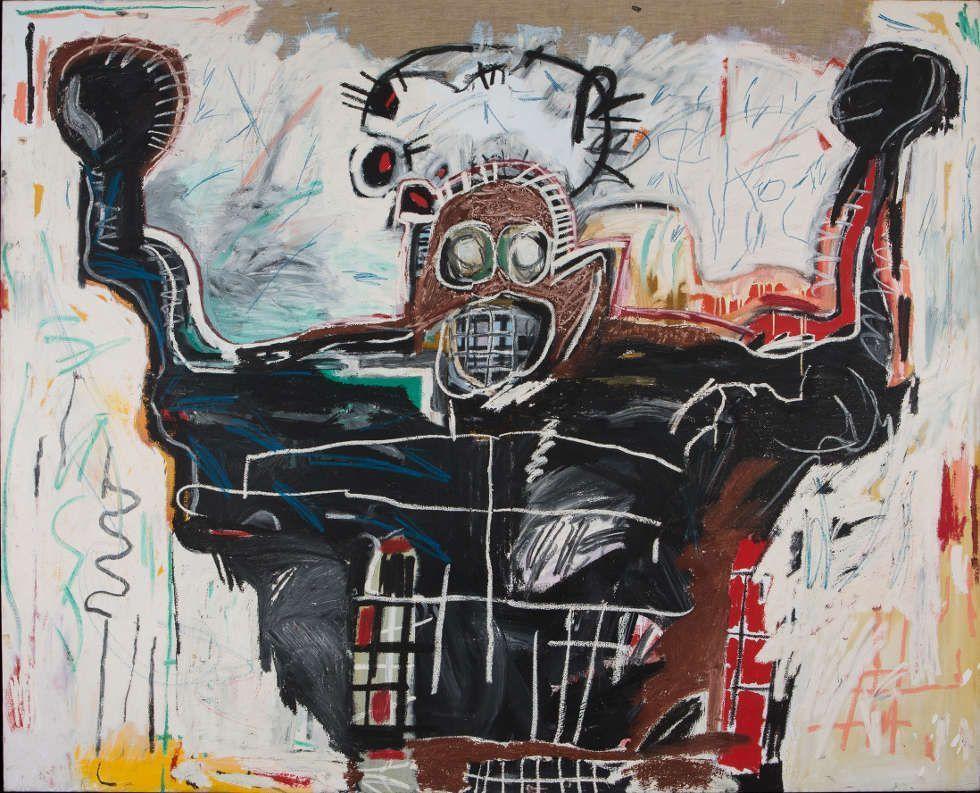 Jean-Michel Basquiat, Untitled (Boxer), 1982, Acryl und Ölkreide auf Leinen, 193 x 239 cm (Privatsammlung © Estate of Jean-Michel Basquiat. Licensed by Artestar, New York.)
