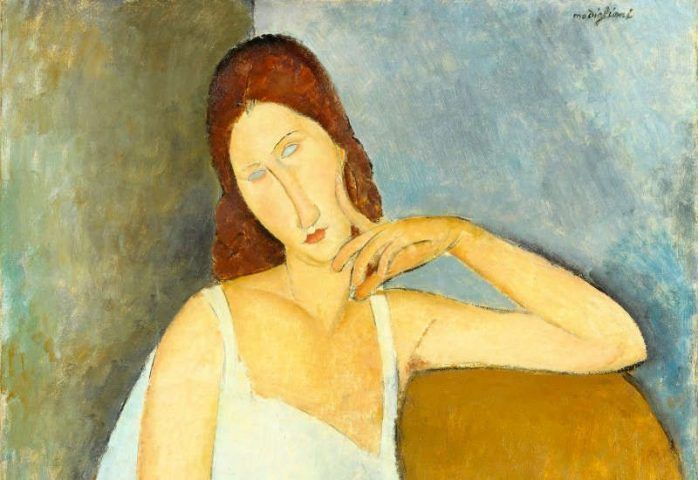 Amedeo Modigliani, Jeanne Hébuterne, Detail, 1919, Öl/Lw, 91,4 x 73 cm (The Metropolitan Museum of Art, New York)