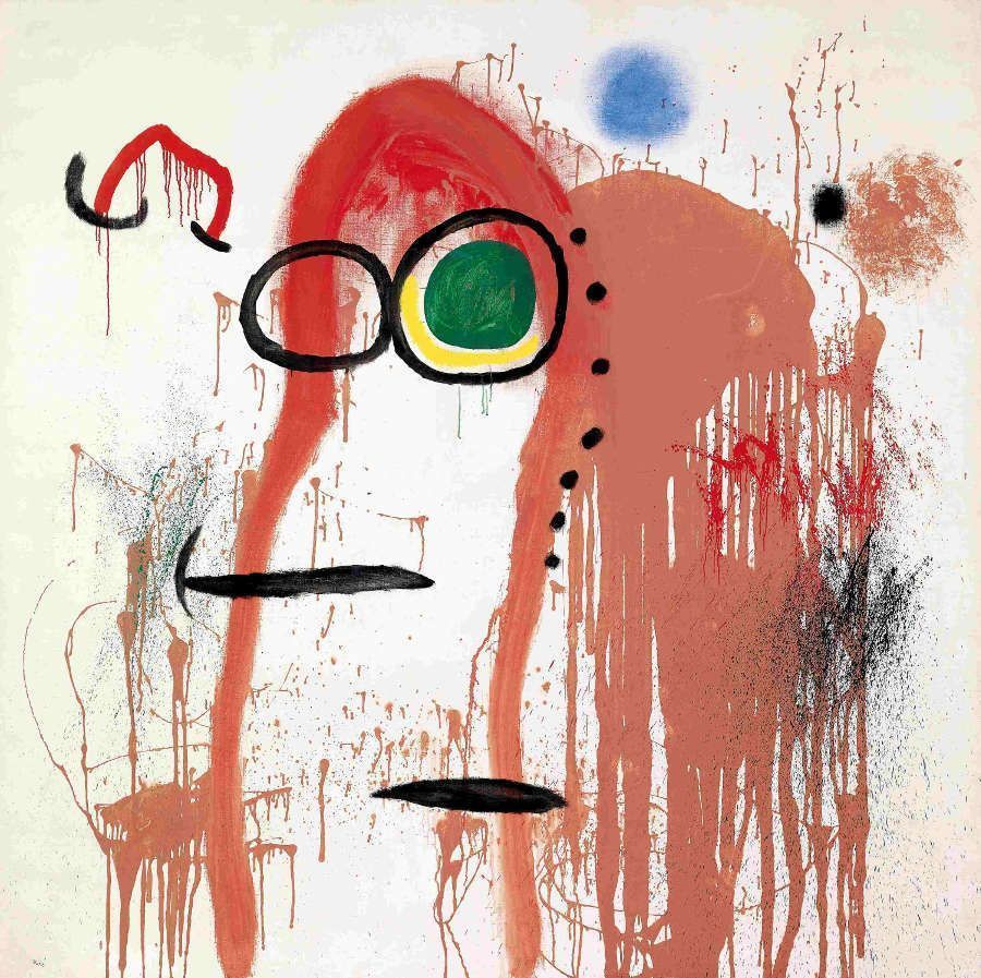 Joan Miró, Femme et oiseau I [Frau und Vogel I], 1964, Öl auf Leinwand, Collection Fondation Marguerite et Aimé Maeght, Saint-Paul – France © Successió Miró / VG BildKunst, Bonn 2017