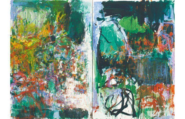 Joan Mitchell, Un jardin pour Audrey, 1975, Öl auf Leinwand, Diptychon, 252,4 x 360,1 cm (© Estate of Joan Mitchell, Privatsammlung, Frankreich, Foto: Günter König)