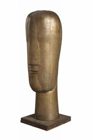 Joannis Avramidis, Großer Kopf, um 1970, Bronze, H: 92,5 cm (Atelier Joannis Avramidis © Julia Frank-Avramidis, Foto: Lempertz)