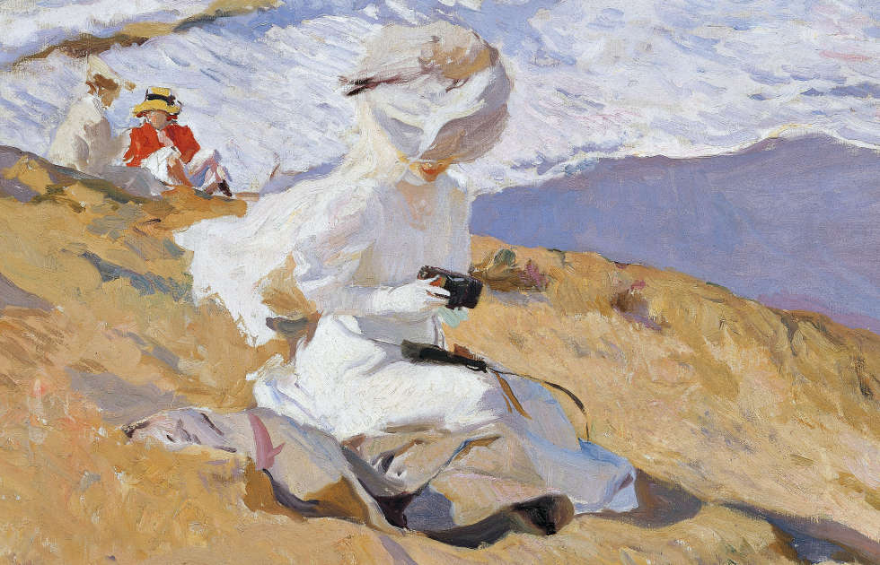 Joaquín Sorolla, Schnappschuss, Biarritz, Detail, 1906, Öl/Lw, 62 × 93.5 cm (Museo Sorolla, Madrid © Museo Sorolla, Madrid)