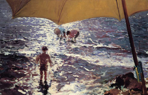 Joaquín Sorolla, Nachmittag am Strand in Valencia, 1904, Öl/Lw, 64 × 97 cm (Arango Collection, Archivo fotográfico BPS)