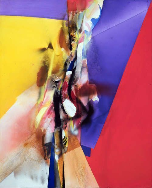 Jorg Hartig, Farbensprung, 1979, Acryl auf Leinwand, 186 x 151 cm (MUSA)
