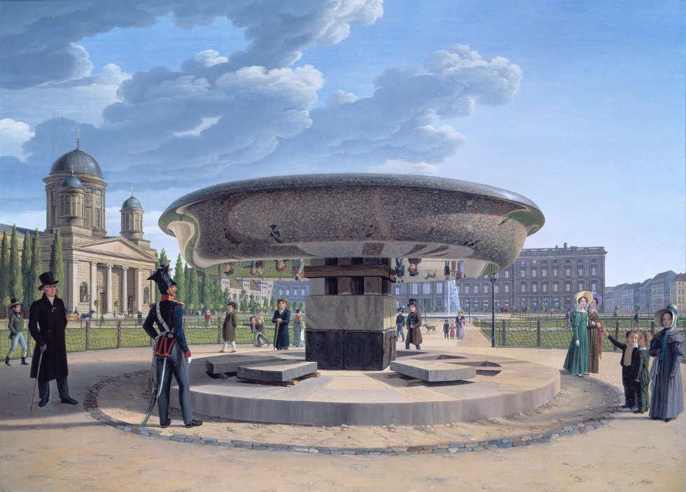 Johann Erdmann Hummel, Die Granitschale im Berliner Lustgarten, 1831 (© Staatliche Museen zu Berlin, Nationalgalerie / Jörg P. Anders)