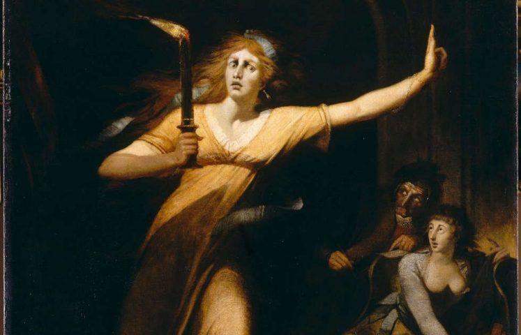 Johann Heinrich Füssli, Die schlafwandelnde Lady Macbeth, Detail, 1784, Öl/Lw, 221 x 160 cm (Louvre, Paris)