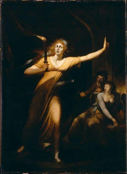 Johann Heinrich Füssli, Die schlafwandelnde Lady Macbeth, 1784, Öl/Lw, 221 x 160 cm (Louvre, Paris)