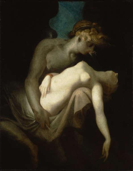 Johann Heinrich Füssli, Amor und Psyche, um 1810, Öl auf Leinwand, 125 x 100 cm (Kunsthaus Zürich)