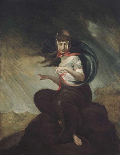 Johann Heinrich Füssli, Die wahnsinnige Kate, 1806/07, Öl/Lw, 91.8 x 71.5 cm (©Freies Deutsches Hochstift / Frankfurter Goethe-Museum, Foto: Ursula Edelmann)