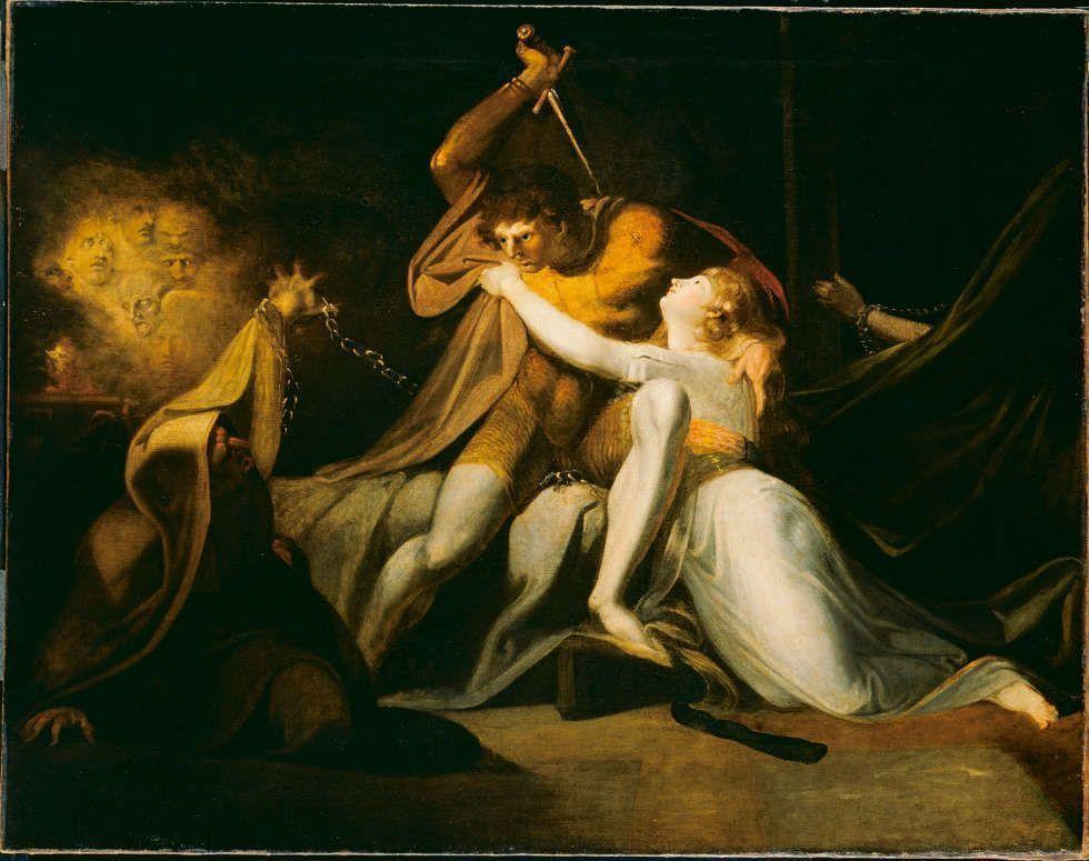 Johann Heinrich Füssli, Percival befreit Belisane aus der Bezauberung durch Urma, 1783, Öl/Lw, 99.1 x 125.7 cm (Tate, London)