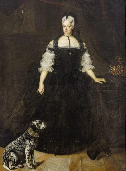 Johann Kupezky, Kaiserin Amalia Wilhelmina als Witwe, 1719 (Salesianerinnenkloster Wien)