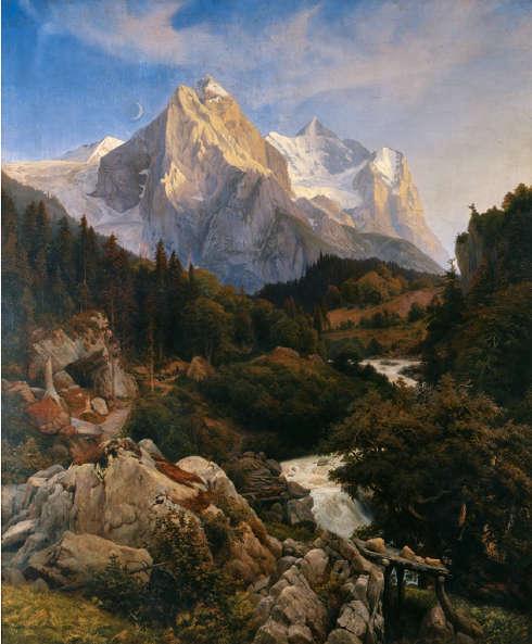 Johann Wilhelm Schirmer, Das Wetterhorn