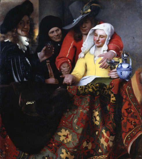 Johannes Vermeer, Bei der Kupplerin, 1656, Öl auf Leinwand, 143 x 130 cm (© Gemäldegalerie Alte Meister, Staatliche Kunstsammlungen Dresden, Foto: Elke Estel, Hans-Peter Klut)