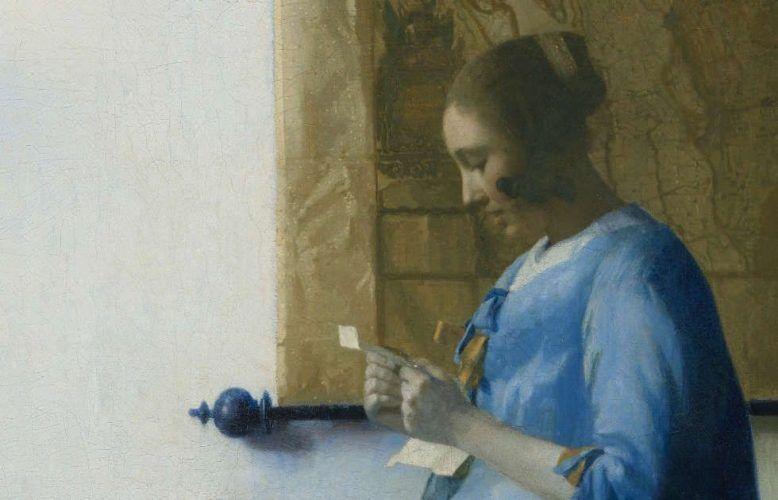 Johannes Vermeer, Briefleserin in Blau, Detail, um 1663 (Rijksmuseum Amsterdam, Leihgabe der Stadt Amsterdam, Vermächtnis A. van der Hoop © Rijksmuseum Amsterdam)