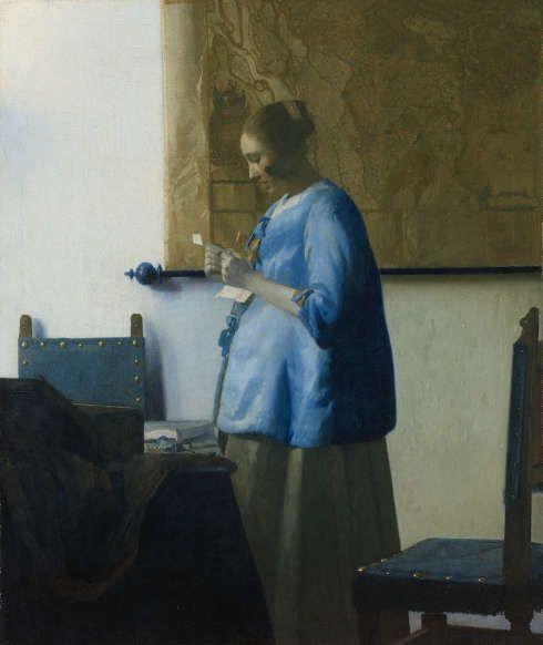 Johannes Vermeer, Briefleserin in Blau, um 1663 (Rijksmuseum Amsterdam, Leihgabe der Stadt Amsterdam, Vermächtnis A. van der Hoop © Rijksmuseum Amsterdam)