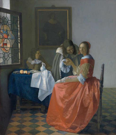 Johannes Vermeer, Das Mädchen mit dem Weinglas, um 1658, Öl auf Leinwand, 77,5 x 66,7 cm (© Braunschweig, Herzog Anton Ulrich-Museum, Foto: Claus Cordes)