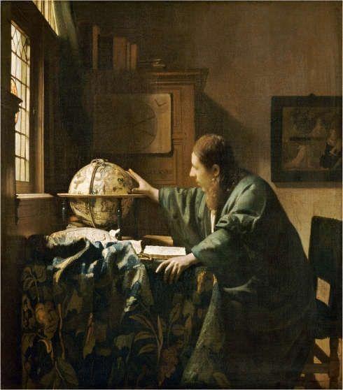 Johannes Vermeer, Der Astronom, 1668, Öl auf Leinwand, 51.5 x 45.5 cm (Paris, Musée du Louvre)