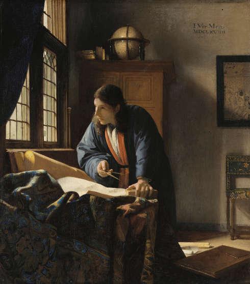 Johannes Vermeer, Der Geograph, 1669, Öl auf Leinwand, 53 x 46,6 cm (© bpk / Städel Museum, Frankfurt)