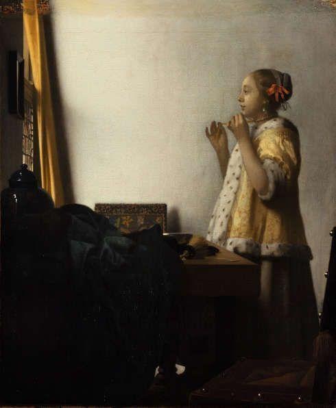 Johannes Vermeer, Mädchen mit dem Perlenhalsband, um 1662–1665, Öl auf Leinwand, 56,1 x 47,4 cm (© Staatliche Museen zu Berlin – Preußischer Kulturbesitz, Gemäldegalerie, Foto: Christoph Schmidt)