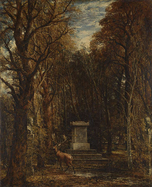 John Constable, Kenotaph zur Erinnerung an Sir Joshua Reynolds, 1833–1836, Öl auf Leinwand, 132 x 108.5 cm (National Gallery, London. Bequeathed by Miss Isabel Constable as the gift of Maria Louisa, Isabel, and Lionel Bicknell Constable, 1888)