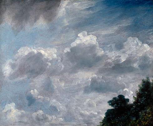 John Constable, Wolkenstudie, 11. September 1821, 1821, Öl auf Papier auf Karton, rote Grundierung, 29.9 x 24.1 cm (Photo credit: © Royal Academy of Arts, London, Foto John Hammond)