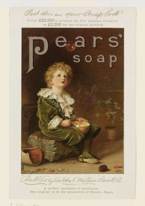 Seifenwerbung nach John Everett Millais, Bubbles (Victoria and Albert Museum, London)