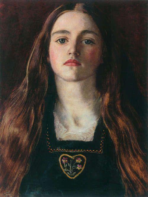 John Everett Millais, Sophie Gray, 1857, Öl auf Papier auf Holz, 30 x 33 cm (Privatsammlung)