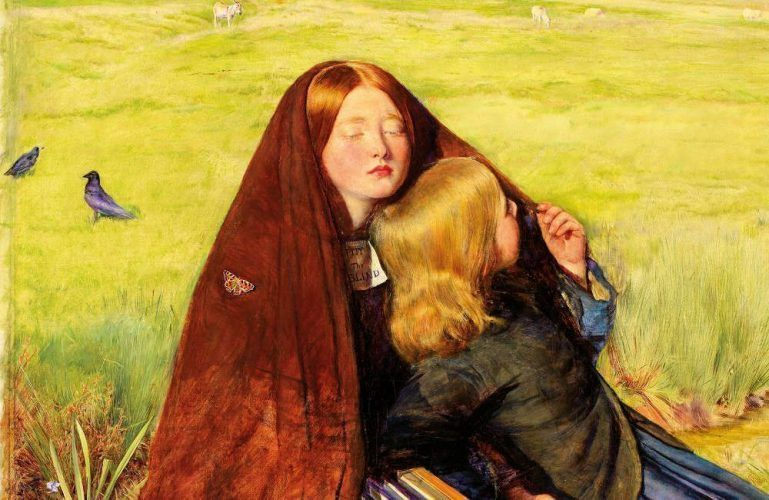 John Everett Millais, The Blind Girl, Detail, 1854–1856, Öl/Lw, 82,6 x 62,2 cm (Birmingham Museums and Art Gallery)