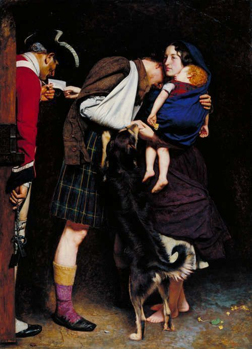 John Everett Millais, The Order of Release 1746, 1852/53, Öl/Lw, 102,9 x 73,7 cm (Tate Britain, London)