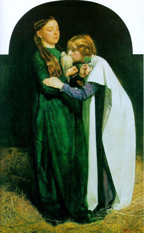John Everett Millais, The Return of the Dove to the Ark, 1851, Öl/Lw, 88,2 x 54,9 cm (The Ashmolean Moseum, Oyford)