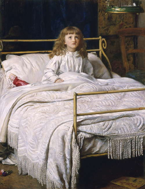John Everett Millais, Waking [Aufgewacht], 1865, Öl/Lw, 99 x 84 cm (Perth Museums & Art Gallery, Perth & Kinross Council, Scotland)