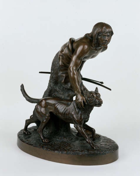 John Quincy Adams Ward, The Indian Hunter [Der indianische Jäger], 1860, Bronze (New-York Historical Society)