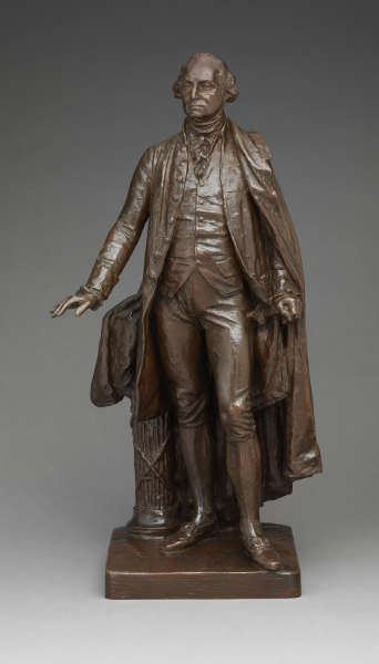 John Quincy Adams Ward, George Washington, 1882; Guß um 1911, Bronze, 60.3 x 31.4 x 25.4 cm (The Metropolitan Museum of Art, New York, Rogers Fund, 1972)