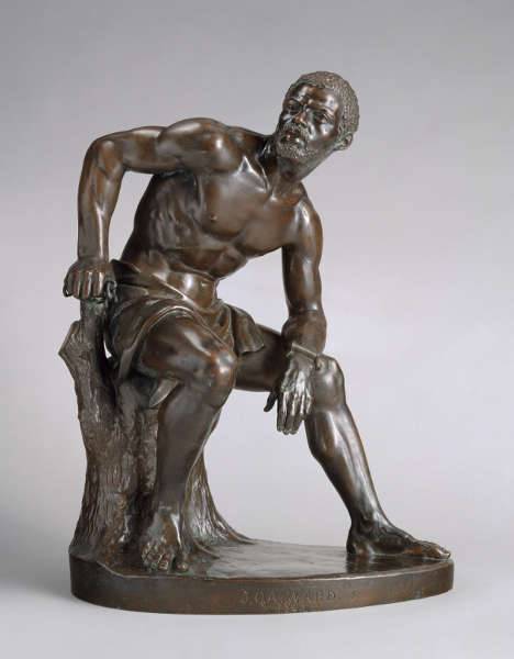 John Quincy Adams Ward, The Freedman, 1863, Guß 1891, Bronze, 49.5 x 37.5 x 24.8 cm (The Metropolitan Museum of Art, New York, Gift of Charles Anthony Lamb and Barea Lamb Seeley, in memory of their grandfather, Charles Rollinson Lamb, 1979, Inv.-Nr. 1979.394)