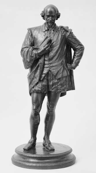 John Quincy Adams Ward, William Shakespeare, 1870, Guß nach 1910, Bronze, 71.1 x 27.9 x 27.9 cm (The Metropolitan Museum of Art, New York, Rogers Fund, 1917)