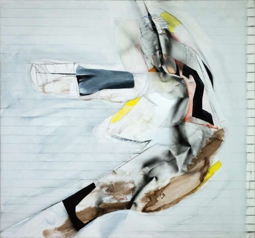 Jorg Hartig, American Football Nr. 2, 1978, 210 x 226 cm, Acryl auf Leinwand