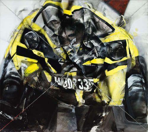 Jorg Hartig, Blattschuß, 1977, 200 x 225 cm, Acryl auf Leinwand