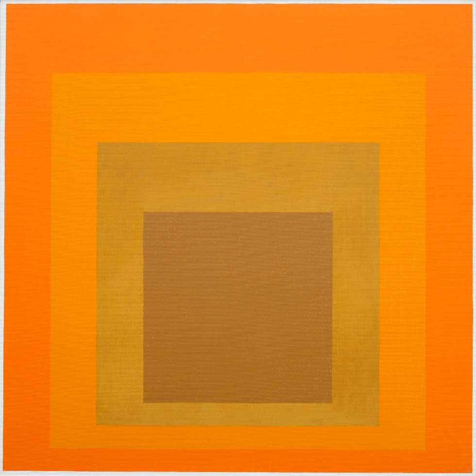 Josef Albers, Homage to the Square, 1964 (Josef Albers Museum Quadrat Bottrop © 2017 The Josef and Anni Albers Foundation / VG Bild-Kunst)