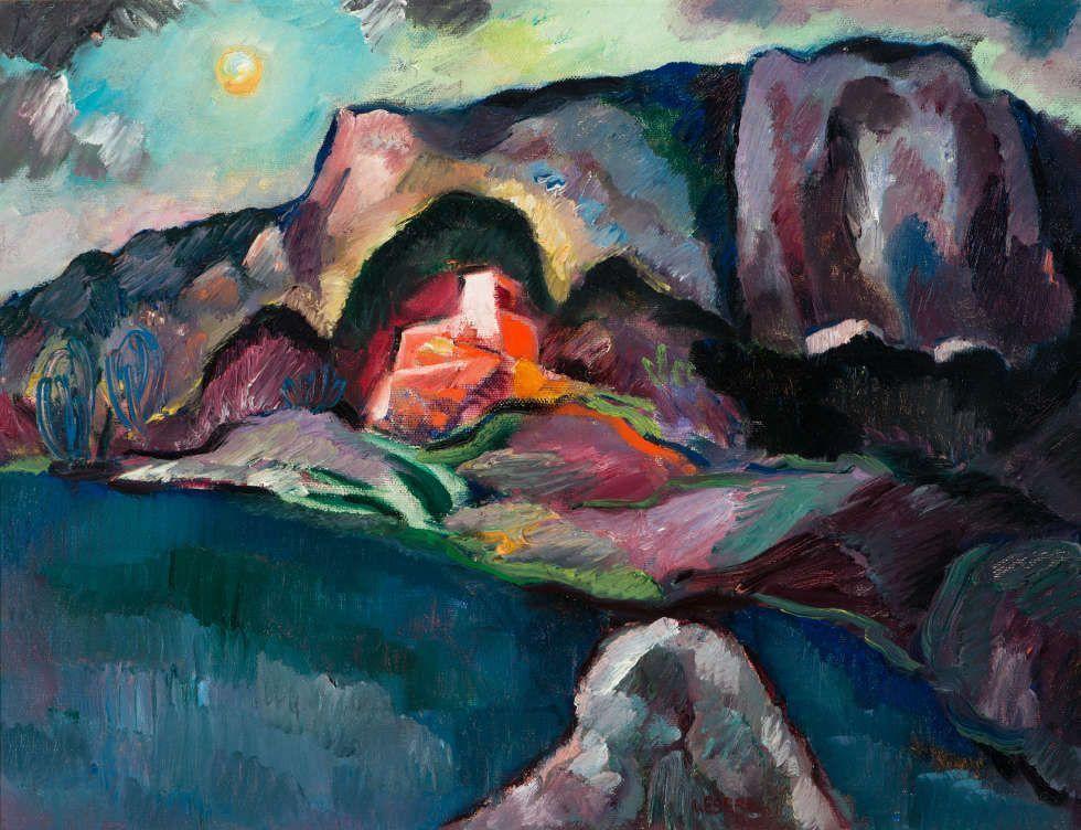Josef Eberz, Felsenküste bei Amalfi, um 1923, Öl auf Leinwand, 49 x 65 cm (Kunstsammlungen der Stadt Limburg an der Lahn © foto-studio karl, Limburg)