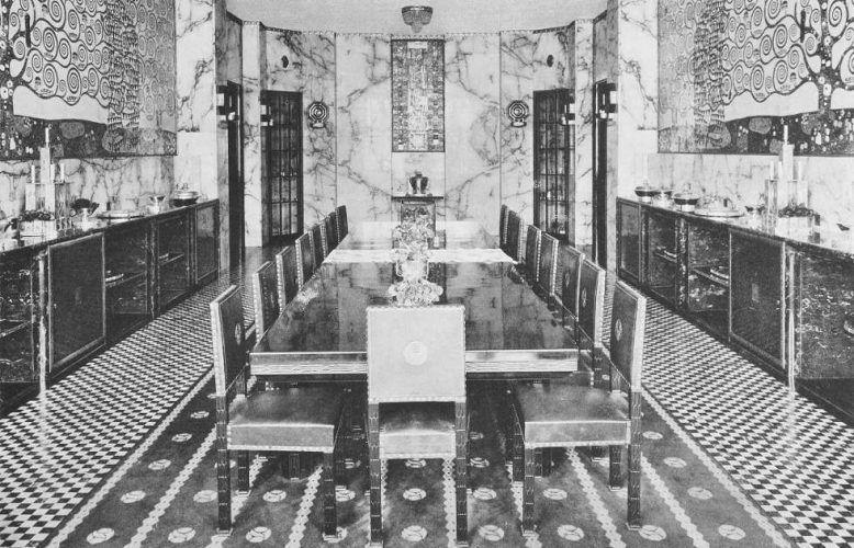 Josef Hoffmann, Ansichten des Speisesaals mit Klimt-Fries, Palais Stoclet, Brüssel, 1914 (© MAK)