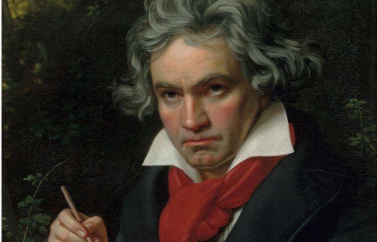 Joseph Karl Stieler, Beethoven mit dem Manuskript der Missa solemnis, Detail, 1820 (Beethoven-Haus Bonn © Beethoven-Haus Bonn)