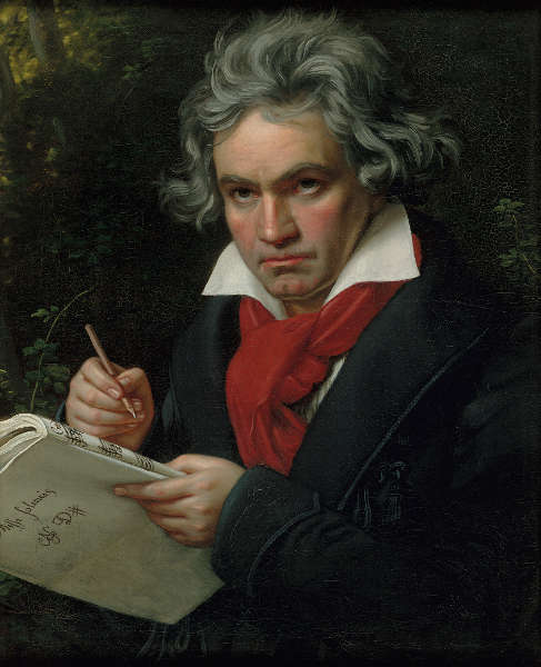 Joseph Karl Stieler, Beethoven mit dem Manuskript der Missa solemnis, 1820 (Beethoven-Haus Bonn © Beethoven-Haus Bonn)