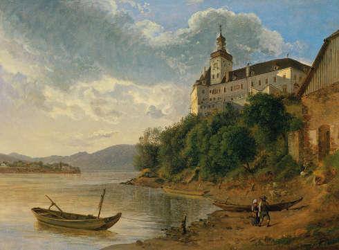 Joseph Rebell, Schloss Persenbeug, 1817, Öl/Lw, 43,5 x 59,5 cm (Belvedere, Wien)