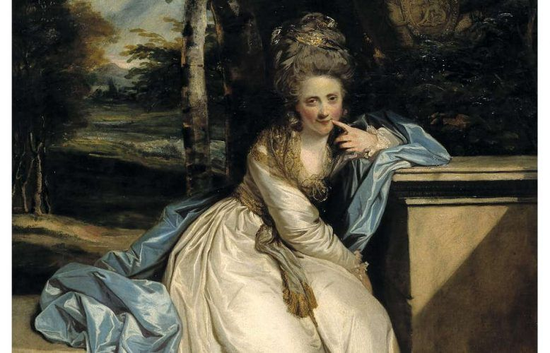 Joshua Reynolds, The Hon. Miss Monckton, Detail, 1777/78, Öl/Lw, 240 x 147,3 cm (Tate Britain, London)