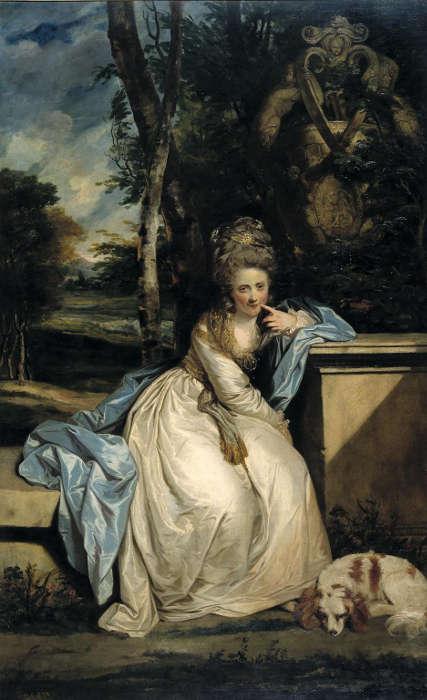 Joshua Reynolds, The Hon. Miss Monckton, 1777/78, Öl/Lw, 240 x 147,3 cm (Tate Britain, London)