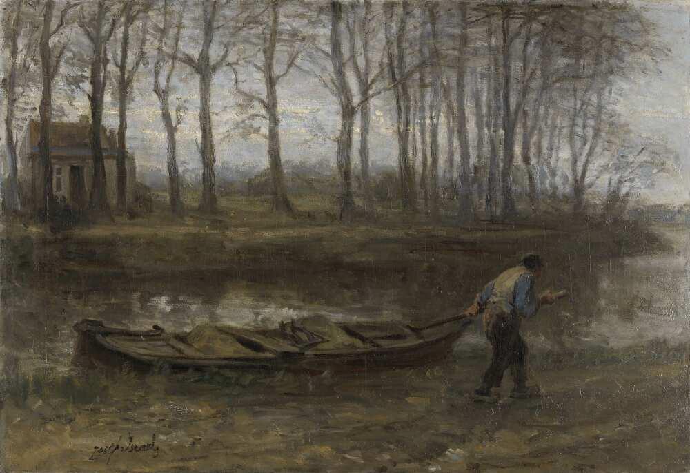 Jozef Israëls, Der Sandkahnführer, 1887, Öl auf Leinwand, 62 x 90 cm (Rijksmuseum, Amsterdam)