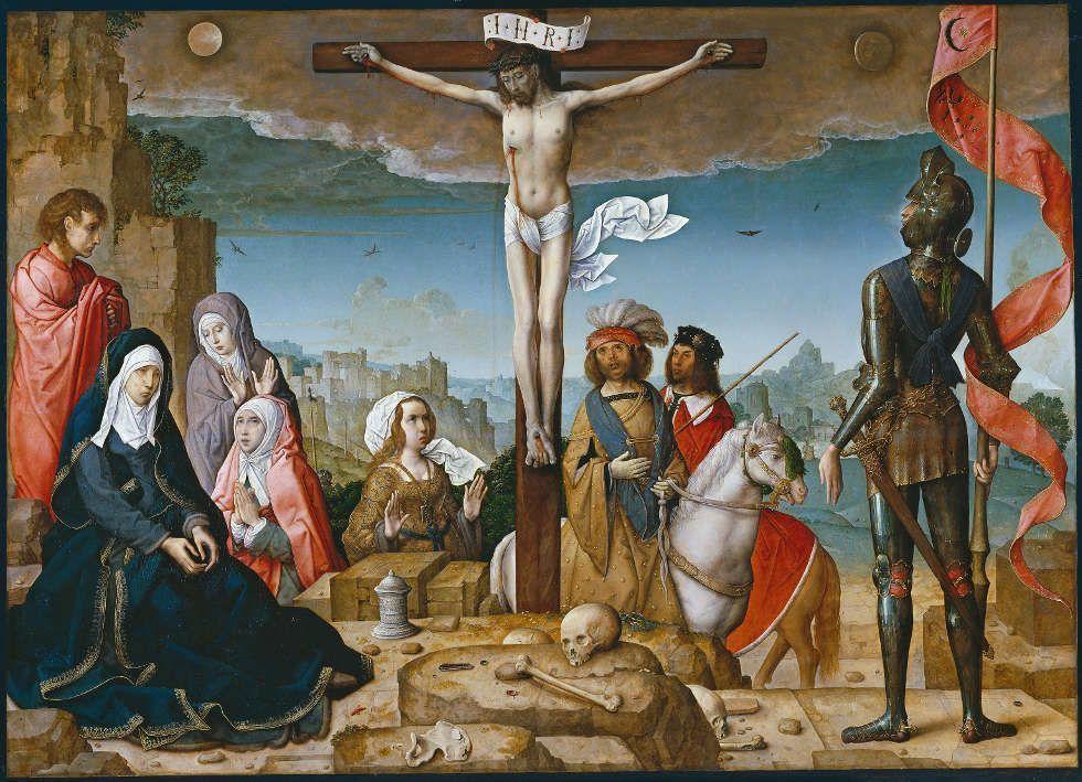 Juan de Flandes, Die Kreuzigung, 1509–1518, Öl/Holz (Madrid, Museo Nacional del Prado)