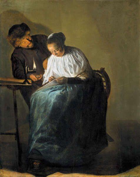 Judith Leyster, Der Vorschlag, 1631, Öl-Holz (Mauritshuis, Den Haag)