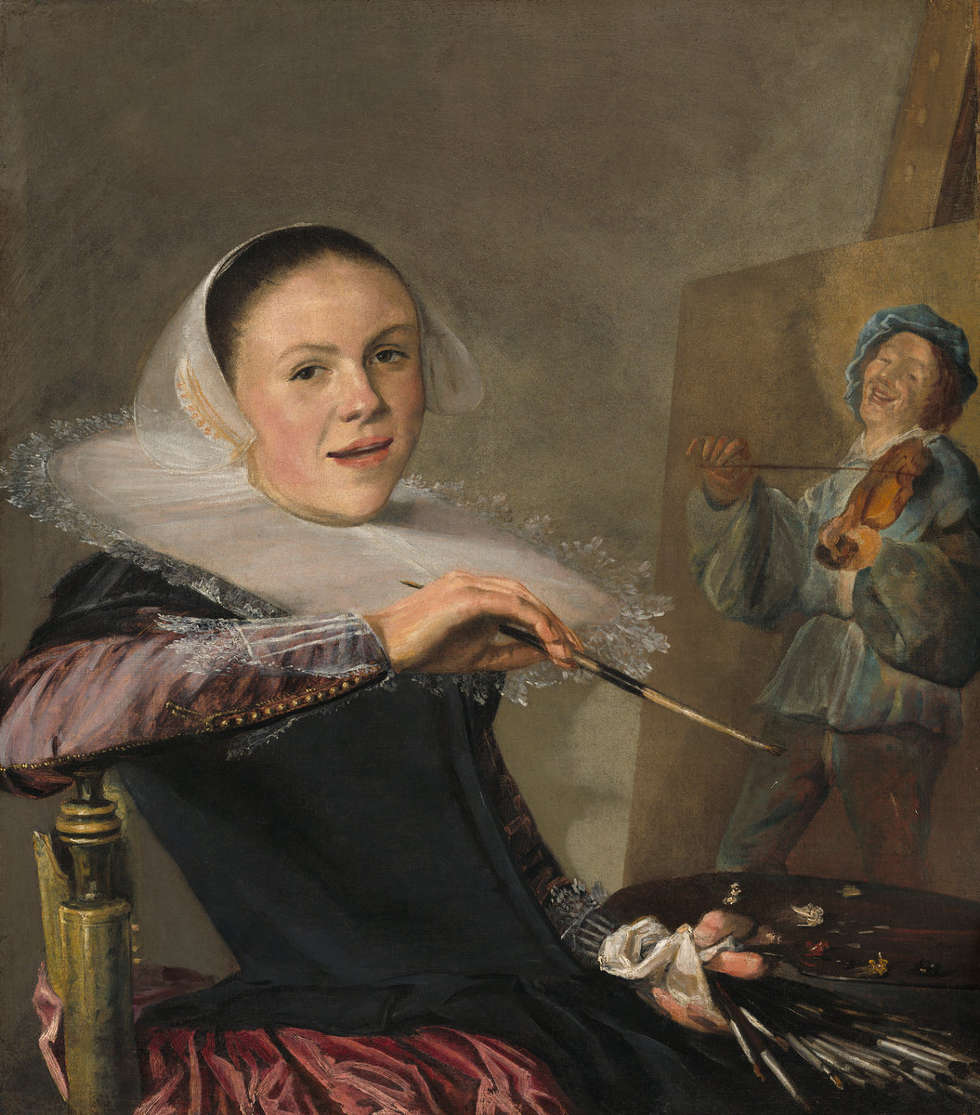 Judith Leyster, Selbstporträt, um 1630, Öl/Lw, 74.6 x 65.1 cm (National Gallery of Art, Washington)
