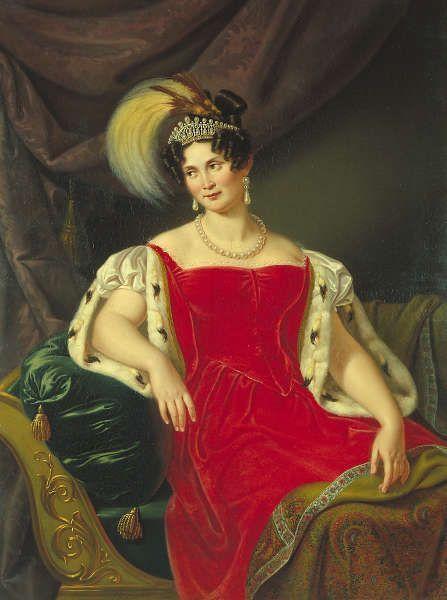 Julie Gräfin von Egloffstein, Königin Therese von Bayern, 1836, Öl auf Leinwand, 135 x 103,5 cm (Wittelsbacher Ausgleichsfonds, Schloss Nymphenburg © Wittelsbacher Ausgleichsbonds)